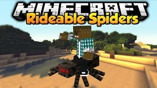 Minecraft - Mod Showcase - Rideable Spiders !