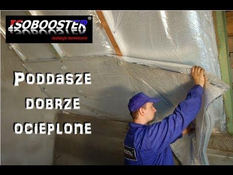 Isobooster - ocieplanie poddasza użytkowego i dachu (lektor)