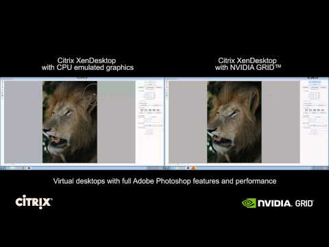 XenDesktop Photoshop: CPU only vs. NVIDIA GRID K2 with XenDesktop
