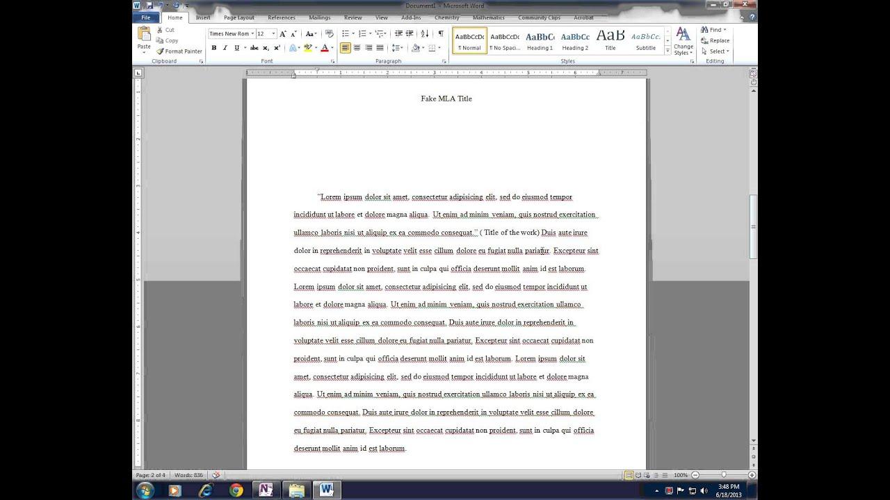 mla format for parenthetical citations