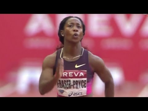 Fraser-Pryce squeaks out 100m win in Paris