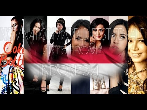 NOMINATION WORLD BEST FEMALE ARTIST FROM INDONESIA