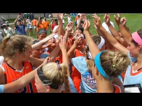 Baltimore post-victory cheer  Underclass Tournament girls lacrosse finals 7/7/13