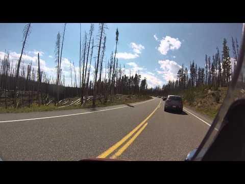 Biker Lawyer rides Yellowstone National Park 8-2013 part 2