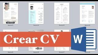 Como elaborar un curriculum vitae facil, rápido y sencillo