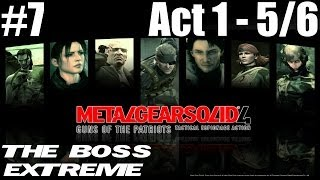 Metal Gear Solid 4 - The Boss Extreme Walkthrough - Part 7 - Act 1 - Liquid Sun 5/6 FROGS
