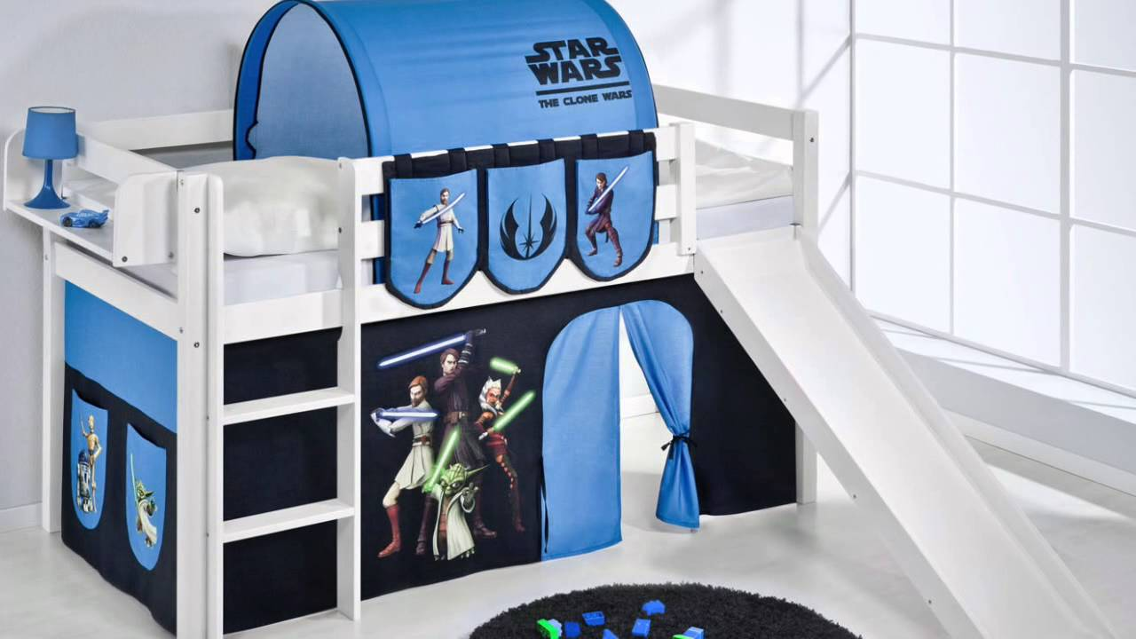 star wars kinderbetten von lilokids hochbetten etagenbetten youtube. Black Bedroom Furniture Sets. Home Design Ideas