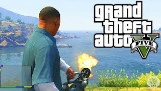 GTA 5: Minigun Location + Shooting Gameplay