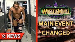 Big Cass Knee Injury Update! Main Event Of WrestleMania 34 CHANGED?! - WWE News Ep. 134