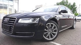 The Audi A8L a four door full size luxury sedan. Start Up, Engine, and In Depth Tour.. MegaRetr