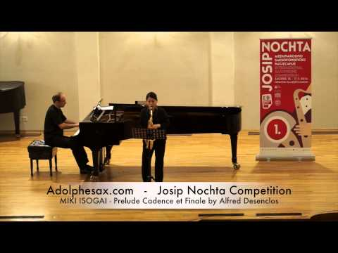 Josip Nochta Competition MIKI ISOGAI Prelude Cadence et Finale by Alfred Desenclos