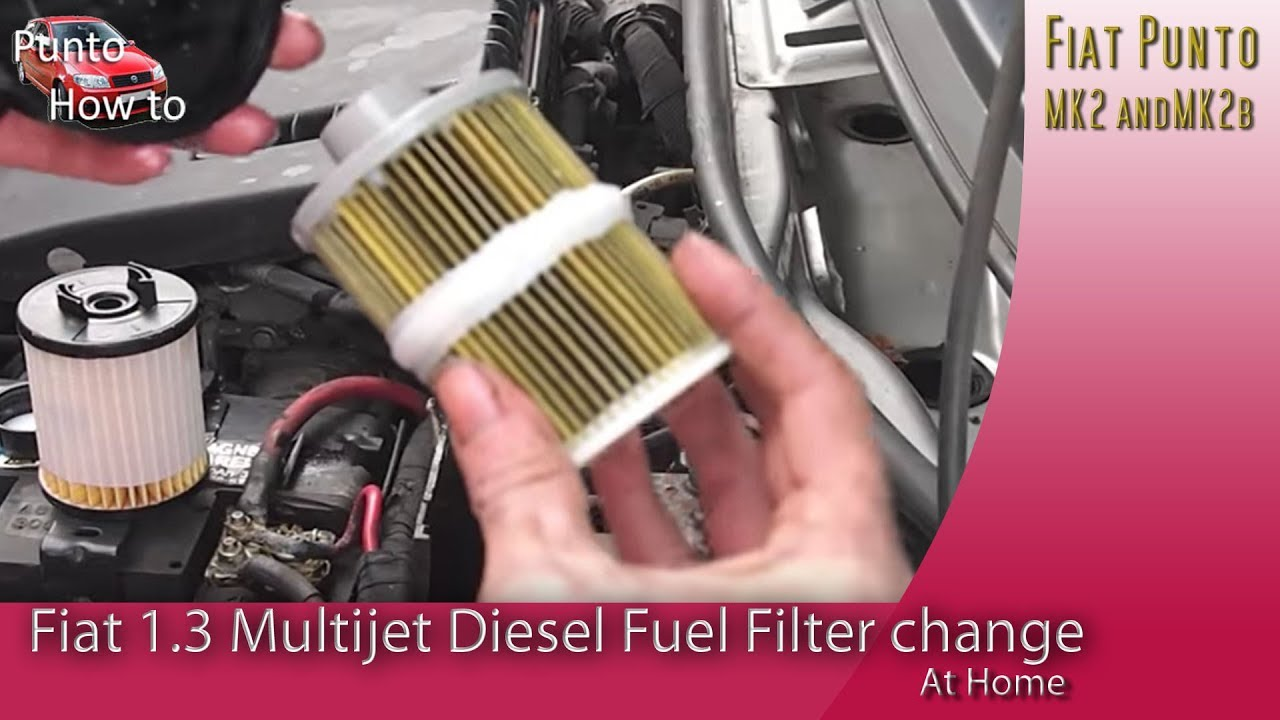 Fiat Multijet Fuel Filter Replacement YouTube