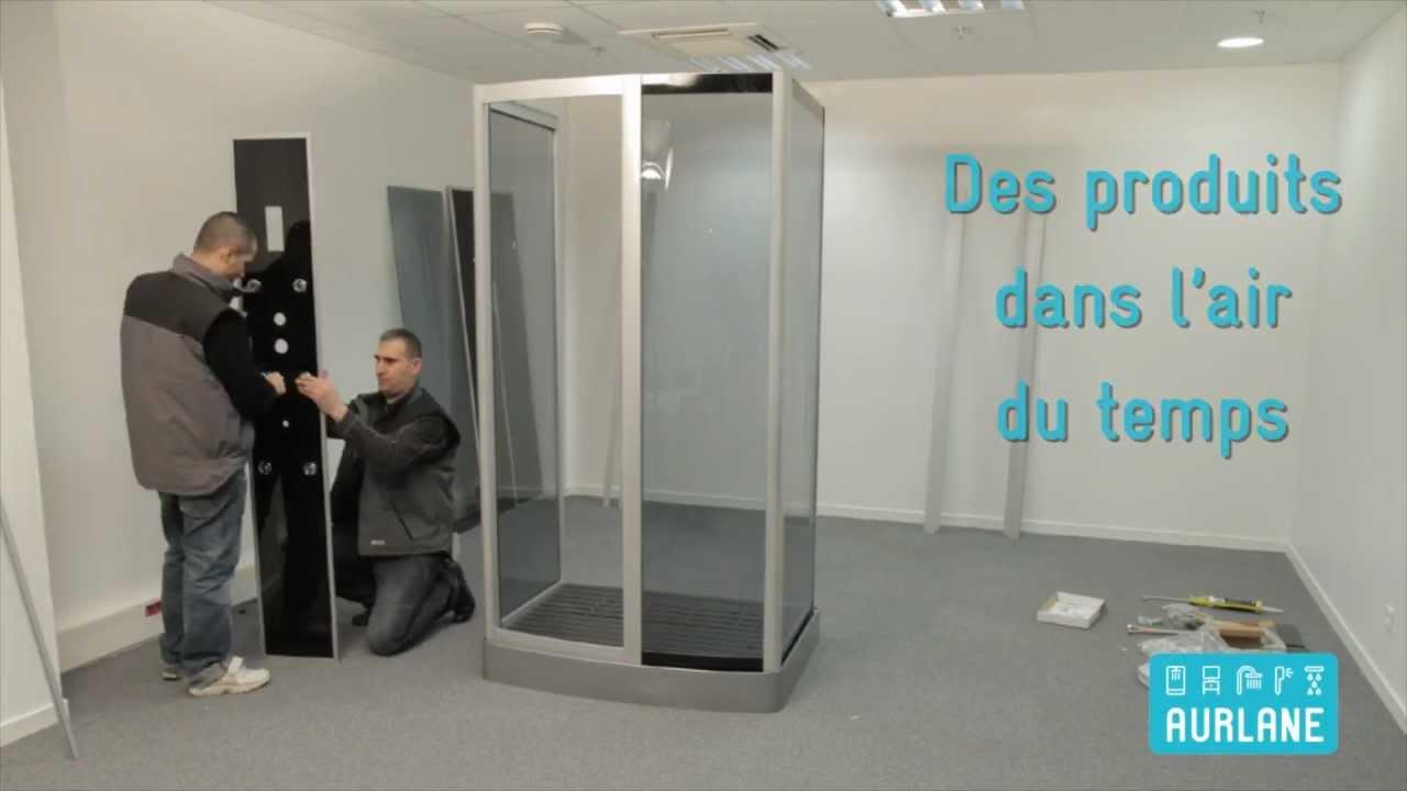 Aurlane des cabines de douche faciles monter youtube - Cabine de douche aurlane ...