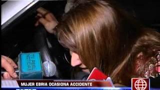 América Noticias: Mujer Ebria Causó Accidente De