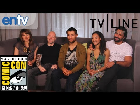 Liam McIntyre, Lucy Lawless &