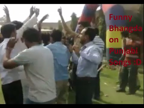 Funny bhangra and dance by boys on punjabi songs
