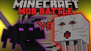 ENDER DRAGON VS GHAST Minecraft Mob Battles Arena