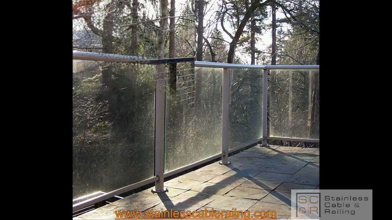 Deck Railing AMAZING Transformation from GLASS to CABLE