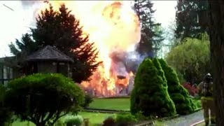 Garage Fire With Propane Tank Explosion Bleve