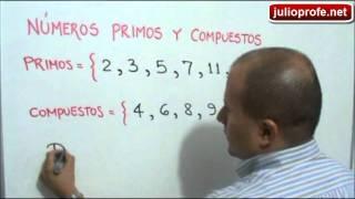 ¿Que son los números primos y los números compuestos?