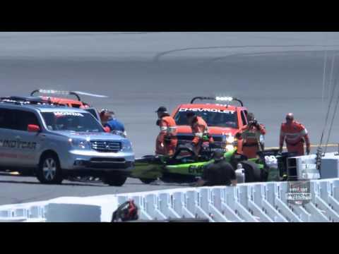 Jack Hawksworth Big Crash @ 2014 Indy Car Pocono Practice