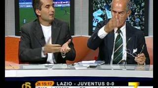 """12/09/2009 - Lazio-Juventus 0-2: Caceres risponde con un gran gol agli """"insulti"""" degli opinionisti di 7 Gold"""