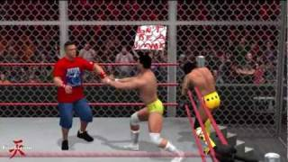 WWE Hell In A Cell 2011 John Cena VS CM Punk VS Alberto