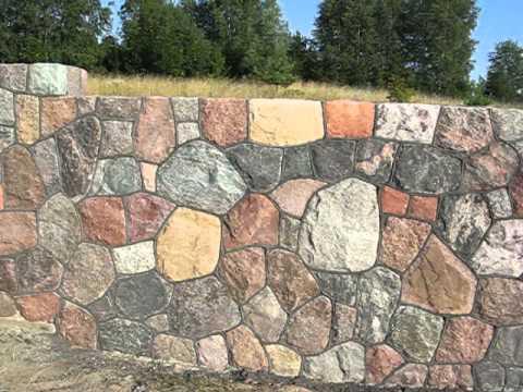 Taras z kamienia polnego