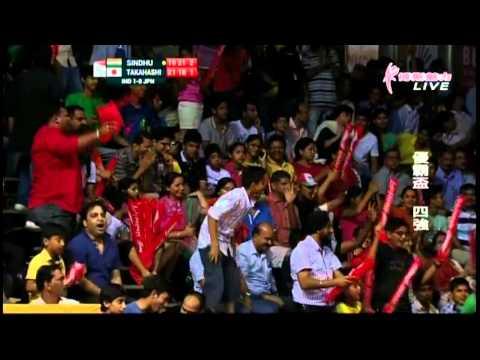 SF ind-jpn ws2 - P.V. Sindhu v Takahashi S. - 2014 Uber Cup