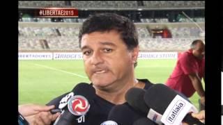 Jogadores e torcedores do Hurac�n dizem estar animados para o jogo contra o Cruzeiro