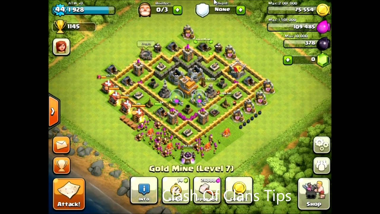 Level 7 Town Hall Base
