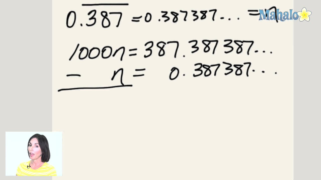 how to turn a repeating decimal into a fraction