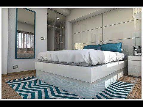 Dise o interior dormitorio luminoso con ba o y vestidor for Dormitorio con bano