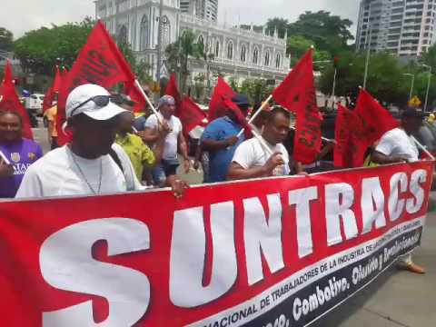 Não estamos sós! Trabalhadores do Panamá marham em apoio à nossa Greve Geral