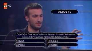 Kim milyoner olmak ister 27 mayıs 2014 Burak Eyigüngör 349. bölüm