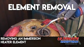 Immersion heater element removal