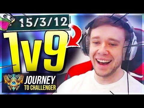 1V9 1V9 1V9 1V9 1V9 1V9 1V9 1V9 1V9 1V9 1V9 1V9!!!  - Journey To Challenger | League of Legends