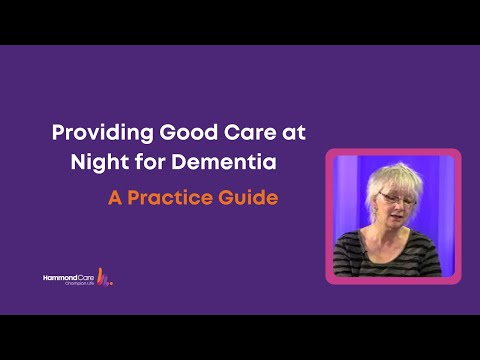 Providing good care at night for older people