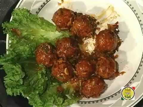 Vegetable Manchurian, vegetable dumpling cook in Indo-Chinese style