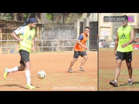 Ranbir Kapoor, Raj Kundra and Dino Morea spotted playing football