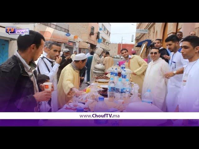 شباب بنسركاو بأكادير يخلدون عيد الفطر بتنظيم فطور جماعي   خارج البلاطو