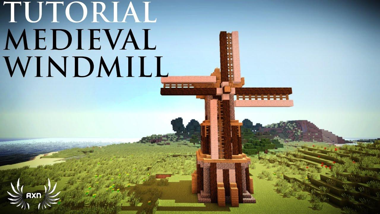 Minecraft Tutorials - Medieval Windmill - YouTube