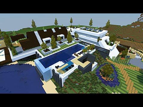 Minecraft Maison moderne conceptuelle 1/2