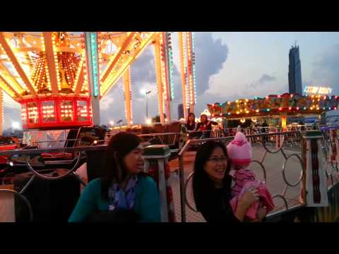 Mother & Daughter fun ride at Dubai Festival City