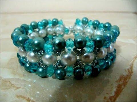 Pulseras con piedras y perlas