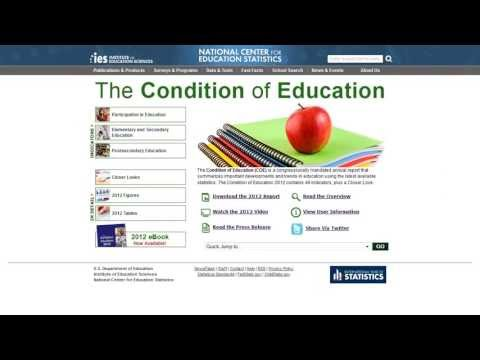 Condition of Education Web Remodel and Mobile Launch