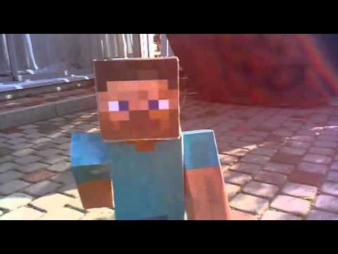 how to make a big paper minecraft steve