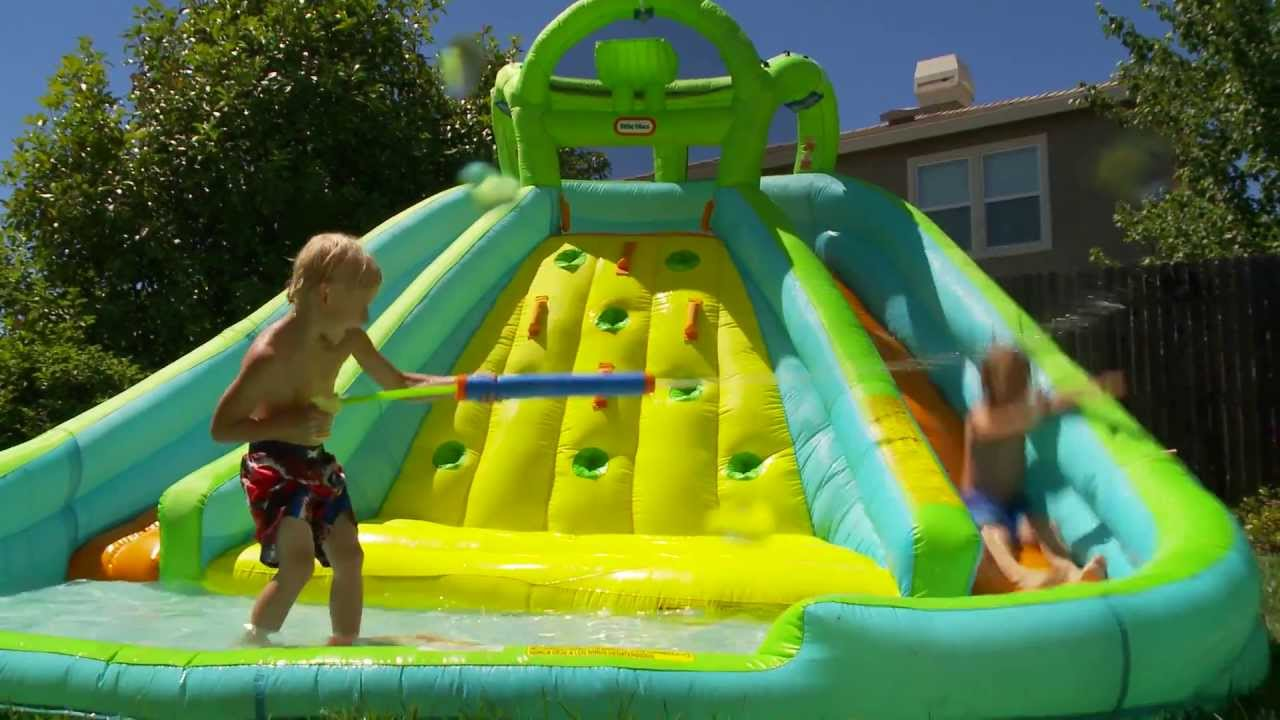 Little Tikes Inflatable Water Slide Amp Bouncer Youtube