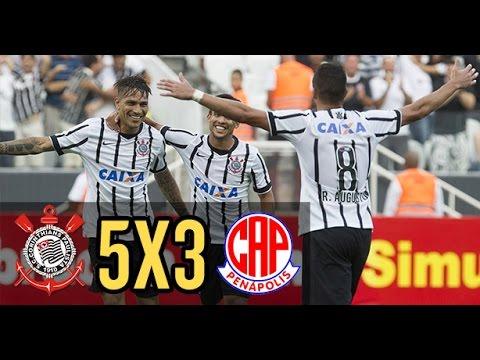 Confira os cinco gols do Corinthians contra a Penapolense