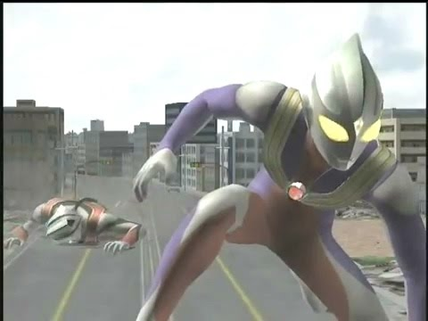 ULTRAMAN  TIGA  FIGHTING  IN  FE3 & FER, have fun~